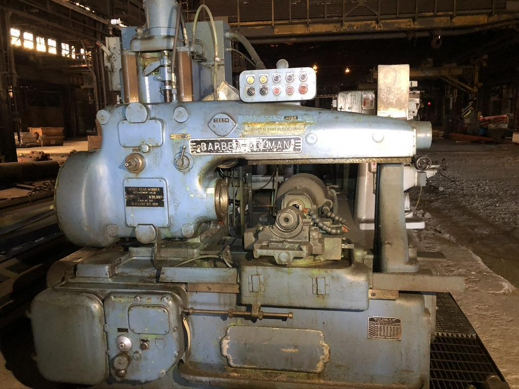 BARBER COLEMAN 14-15 GEAR HOBBER WITH LARGE SELECTION OF CHANGE GEARS