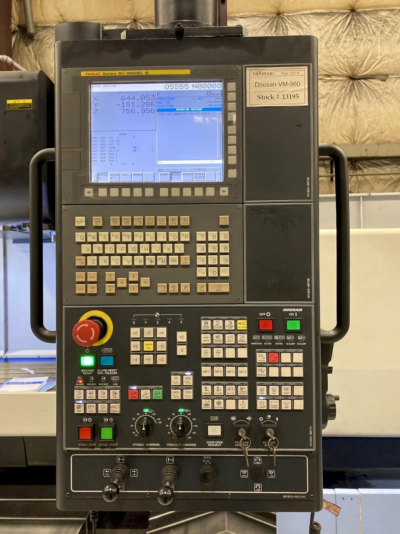 Doosan VM-960 Vertical Machining Center 2014