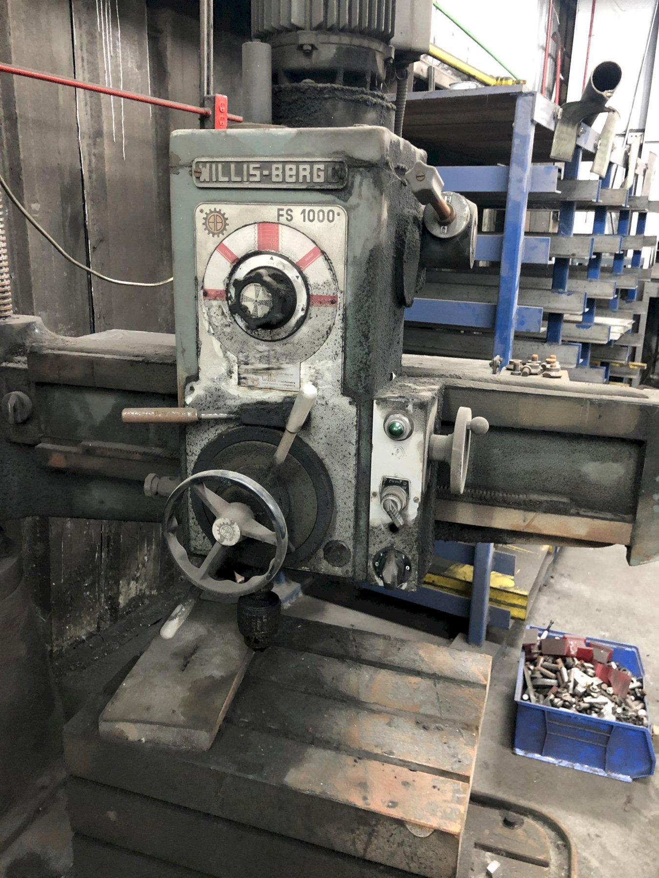 WILLIS BERGO 4' RADIAL DRILL MODEL FS1000 WITH BOX TABLE
