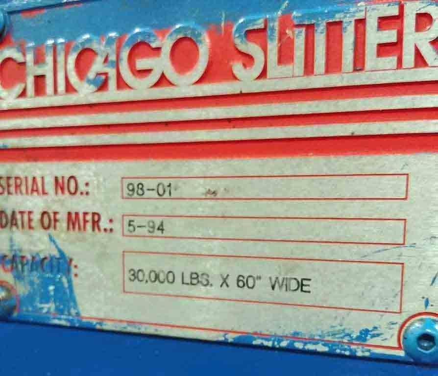 "30,000# x 60"" Chicago Uncoiler STOCK #2809"