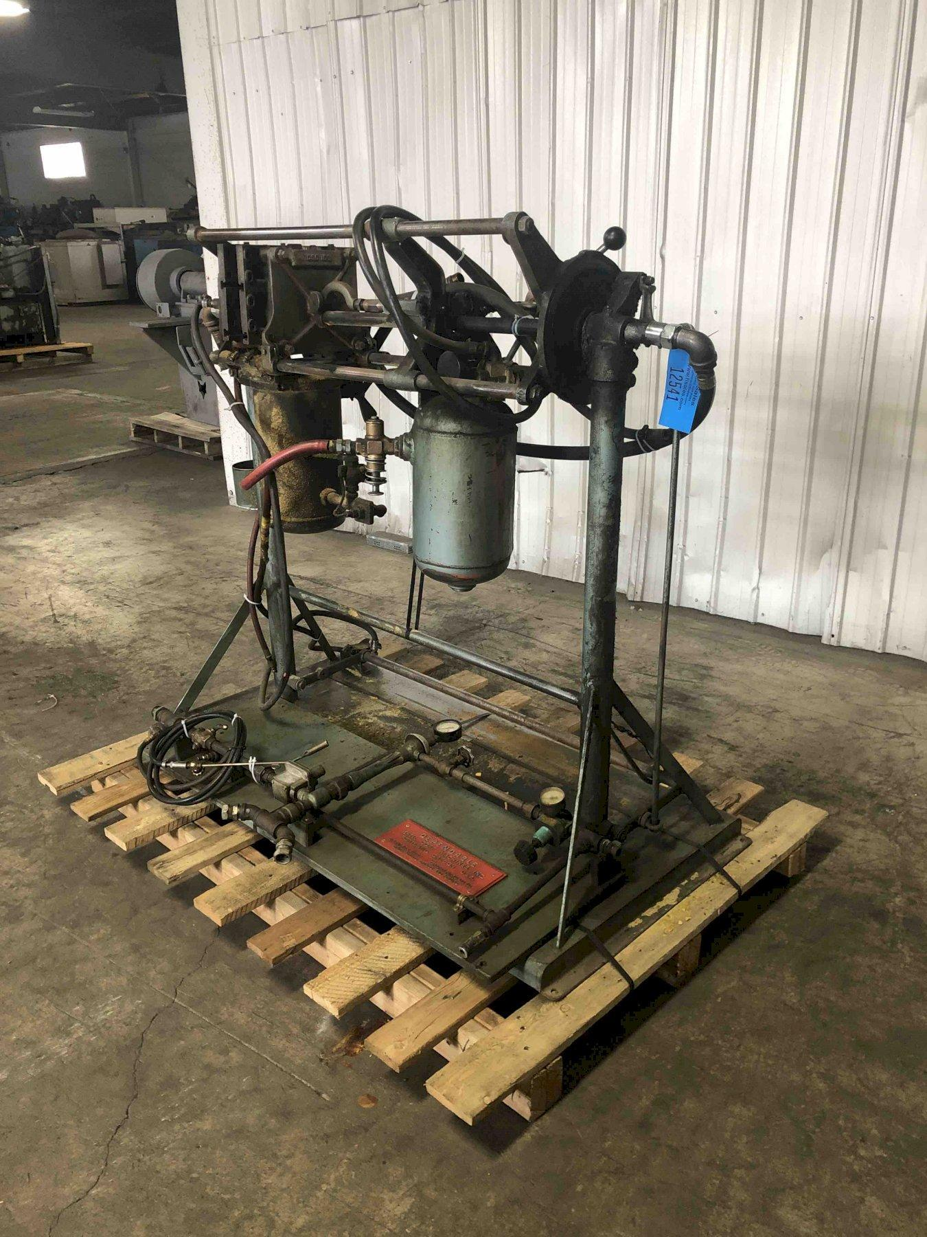 dependable model 100 shell core machine s/n 380 with gas panel