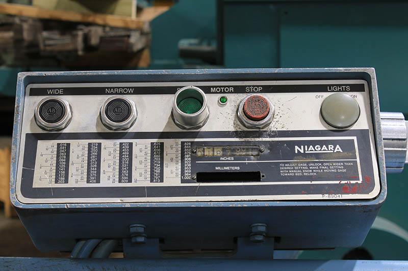 10 Ga x 8 ft Niagara Mechanical Power Shear Model 1R-8