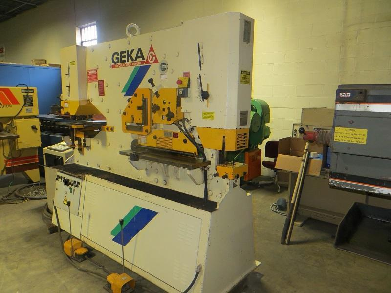 120 Ton Geka Hydraulic Ironworker Model Hydracrop 110SD with Semi PAXY (CNC Punching)