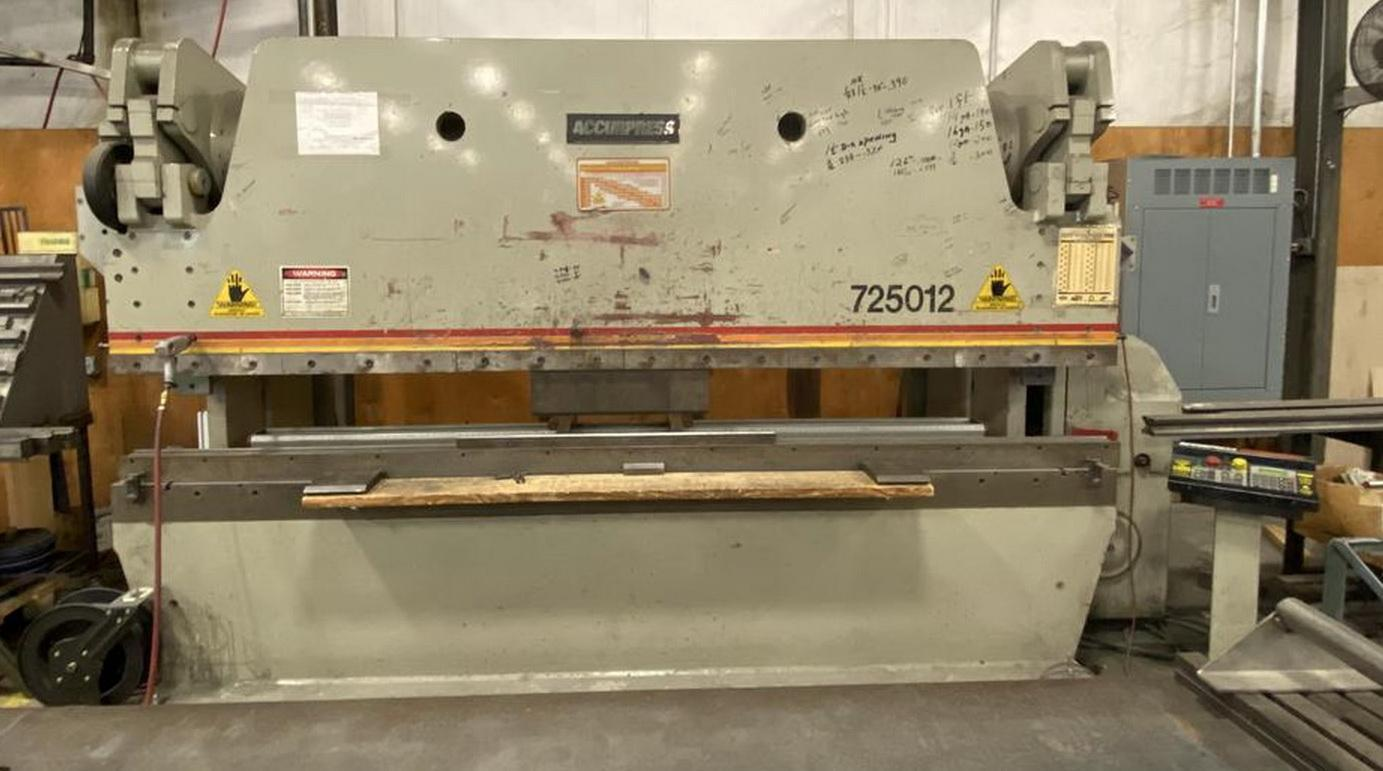 "250 Ton x 144"" ACCURPRESS 725012 Hydraulic Brake Press w/ETS 200 CNC"