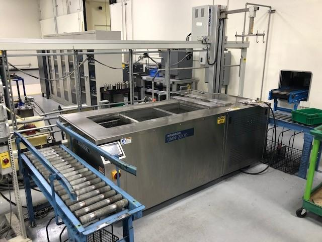 BRANSON MODEL #OMNI-2000 ULTRASONIC WASH SYSTEM WITH AUTOMATED CRANE: STOCK 14306
