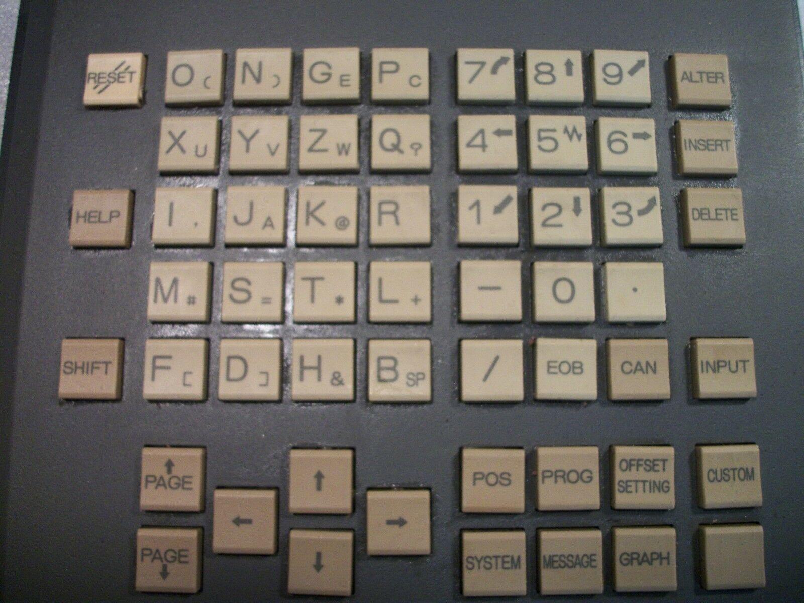 Fanuc Keyboard Panel MDI Unit A02B-0281-C125 # MBR N860-3117-T010 For 18i