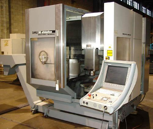 DECKEL MAHO DMU-50 5-AXIS, HEIDENHAIN MILL PLUS CNC