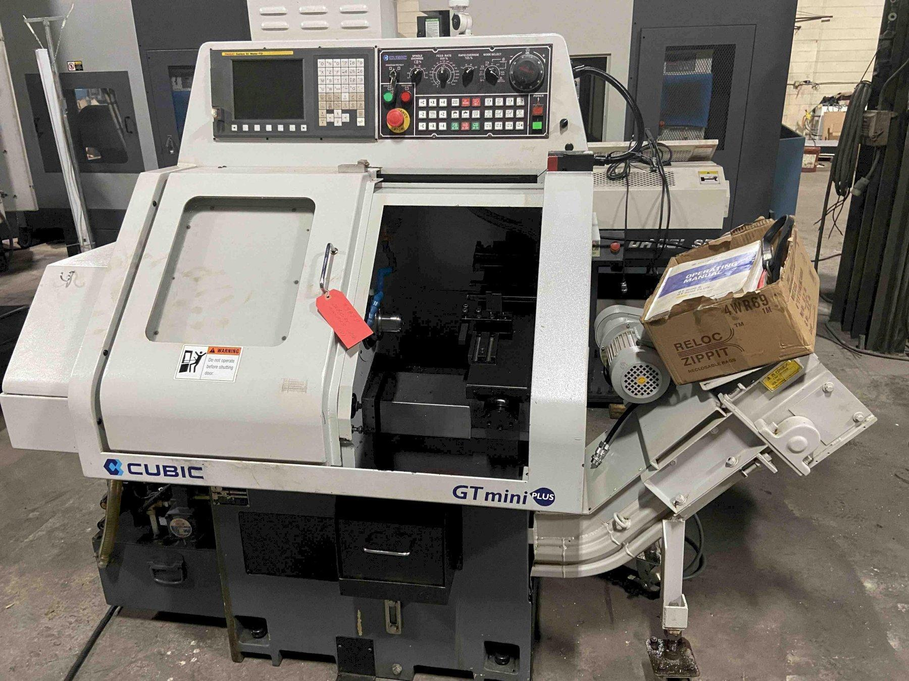 USED CUBIC GT MINI PLUS GANG TOOL CNC LATHE, STOCK # 10662, YEAR 2015