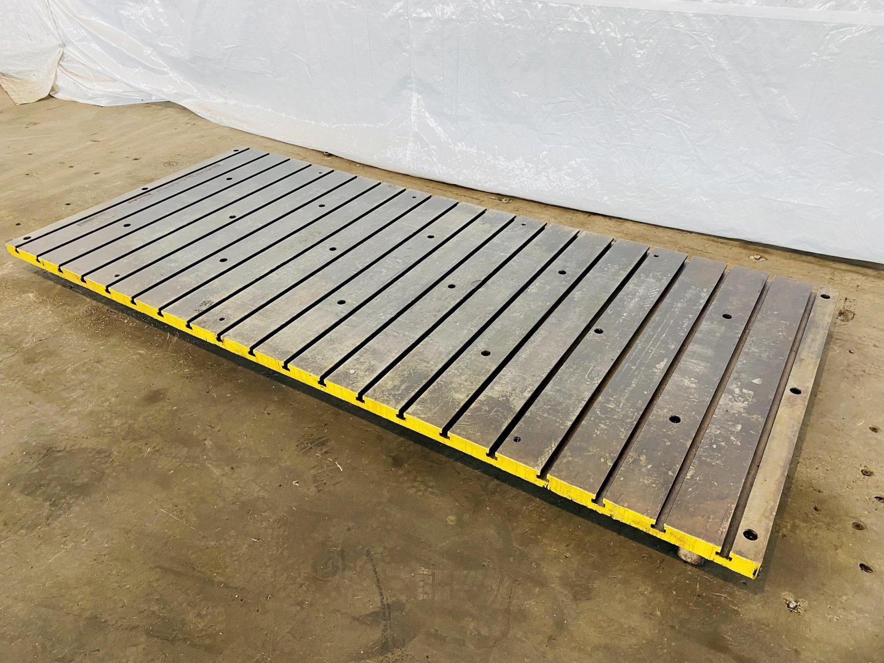"""120"""" X 54"""" X 2"""" T SLOTTED BOLSTER PLATE. STOCK # 0848521"""