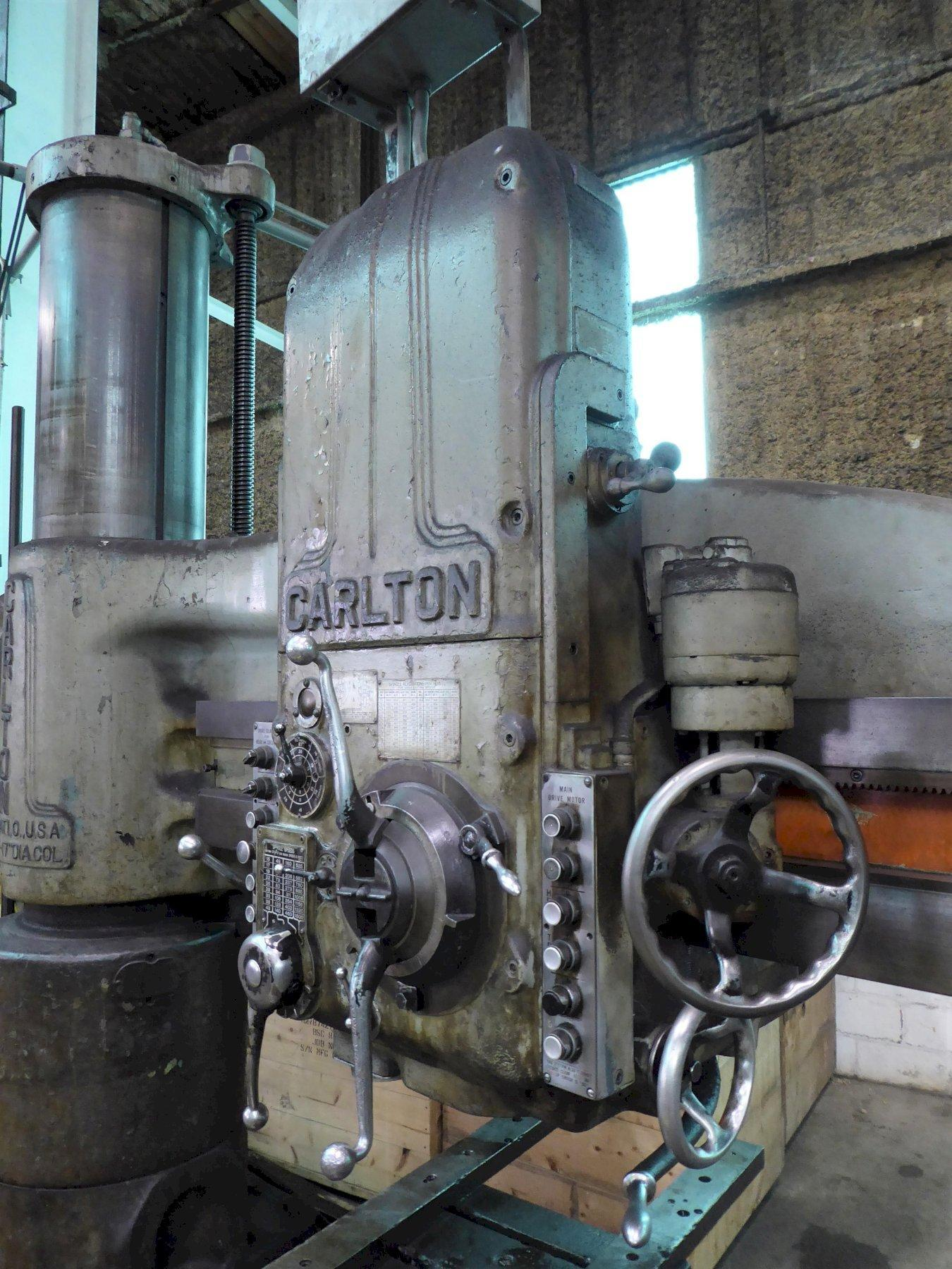 "6' x 17""CARLTON Radial Drill, 15-1500 RPM,  6 MT, Box Table, Low Price"
