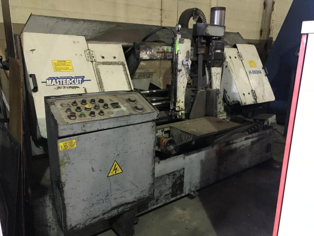 "USED EVERISING MASTER CUT DOUBLE COLUMN FULLY AUTOMATIC HORIZONTAL BANDSAW, Model H-560-HA, 22"" x 24"", Stock No. 9687"
