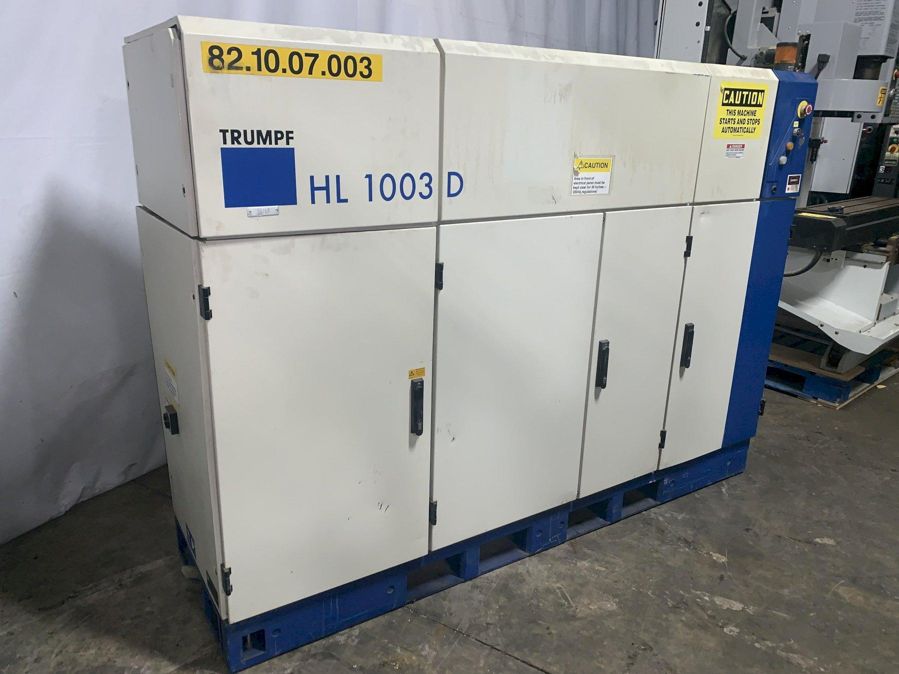 1000 WATT TRUMPF MODEL HL1003D LASER POWER SUPPLY: STOCK #11198