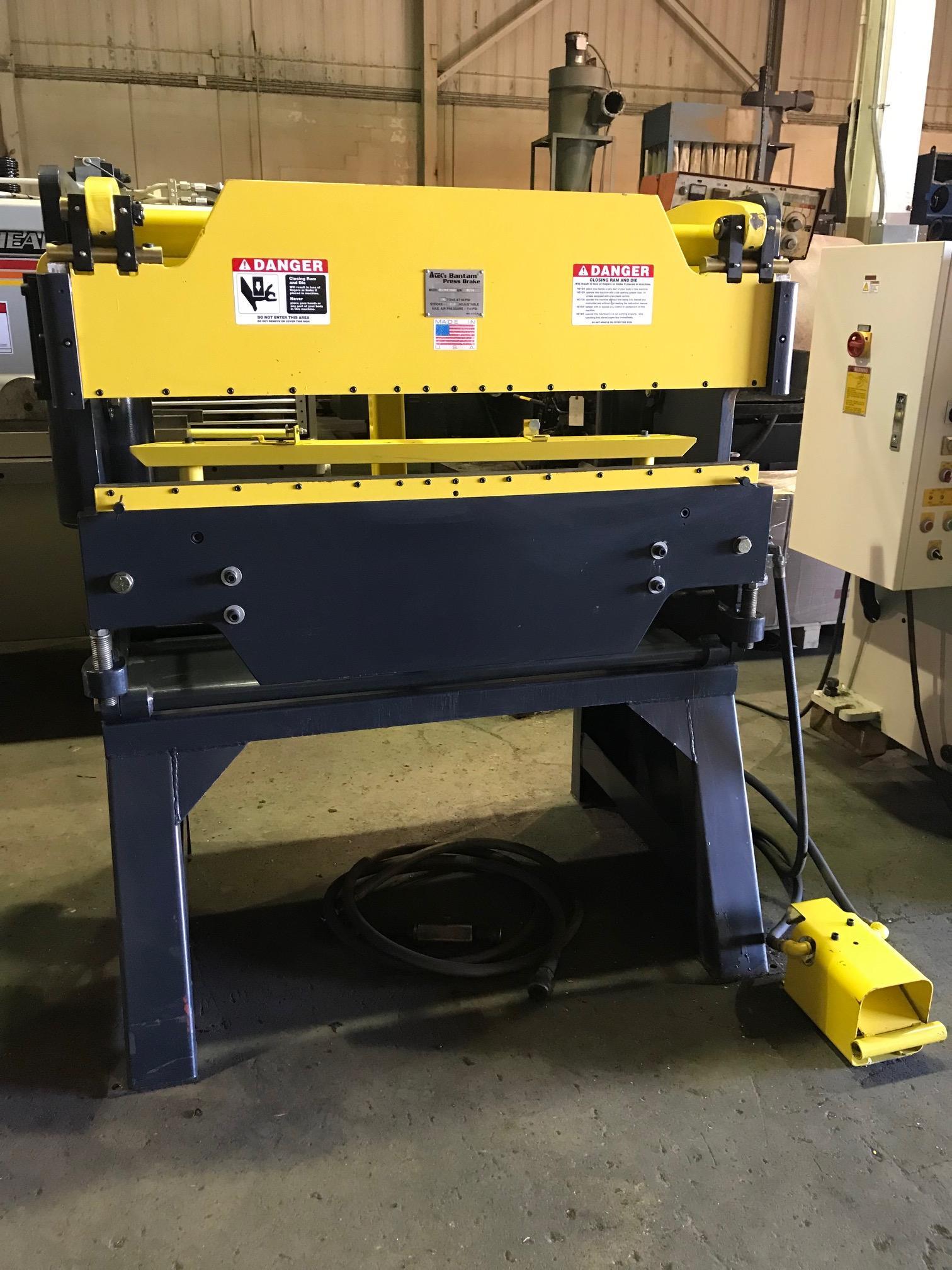 USED ATEK / BANTAM MODEL 4240 4' X 24 TON PNEUMATIC PRESS BRAKE, STK# 10629, YEAR 2012