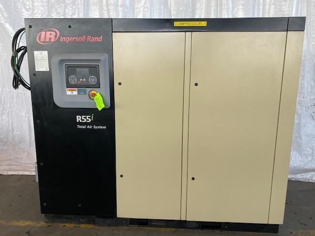 75 HP INGERSOLL-RAND MODEL R55I-TAS-A118 ROTARY SCREW AIR COMPRESSOR. STOCK # 0631220