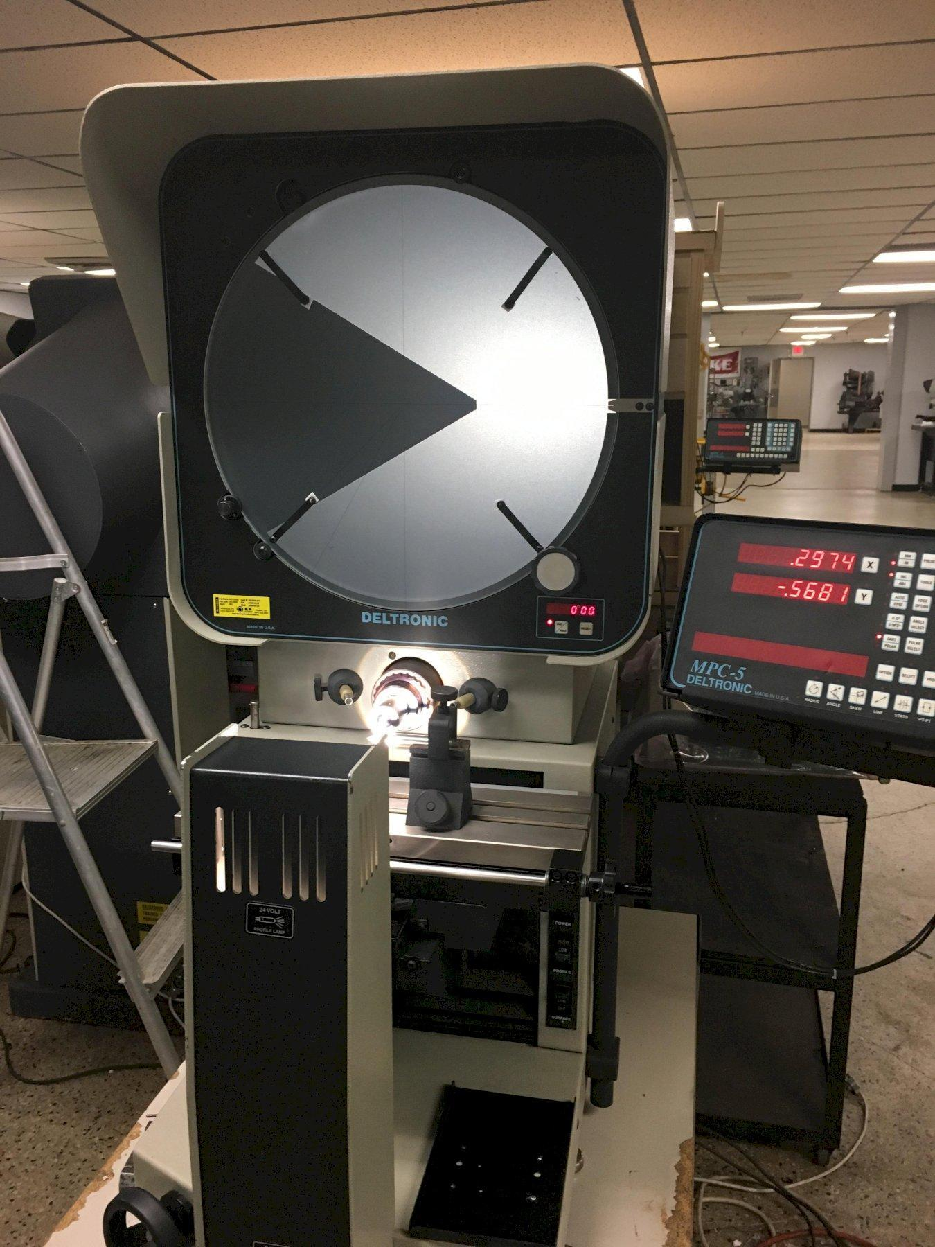 Deltronic DH216 Optical Comparator, S/N 399016120, New 1999.
