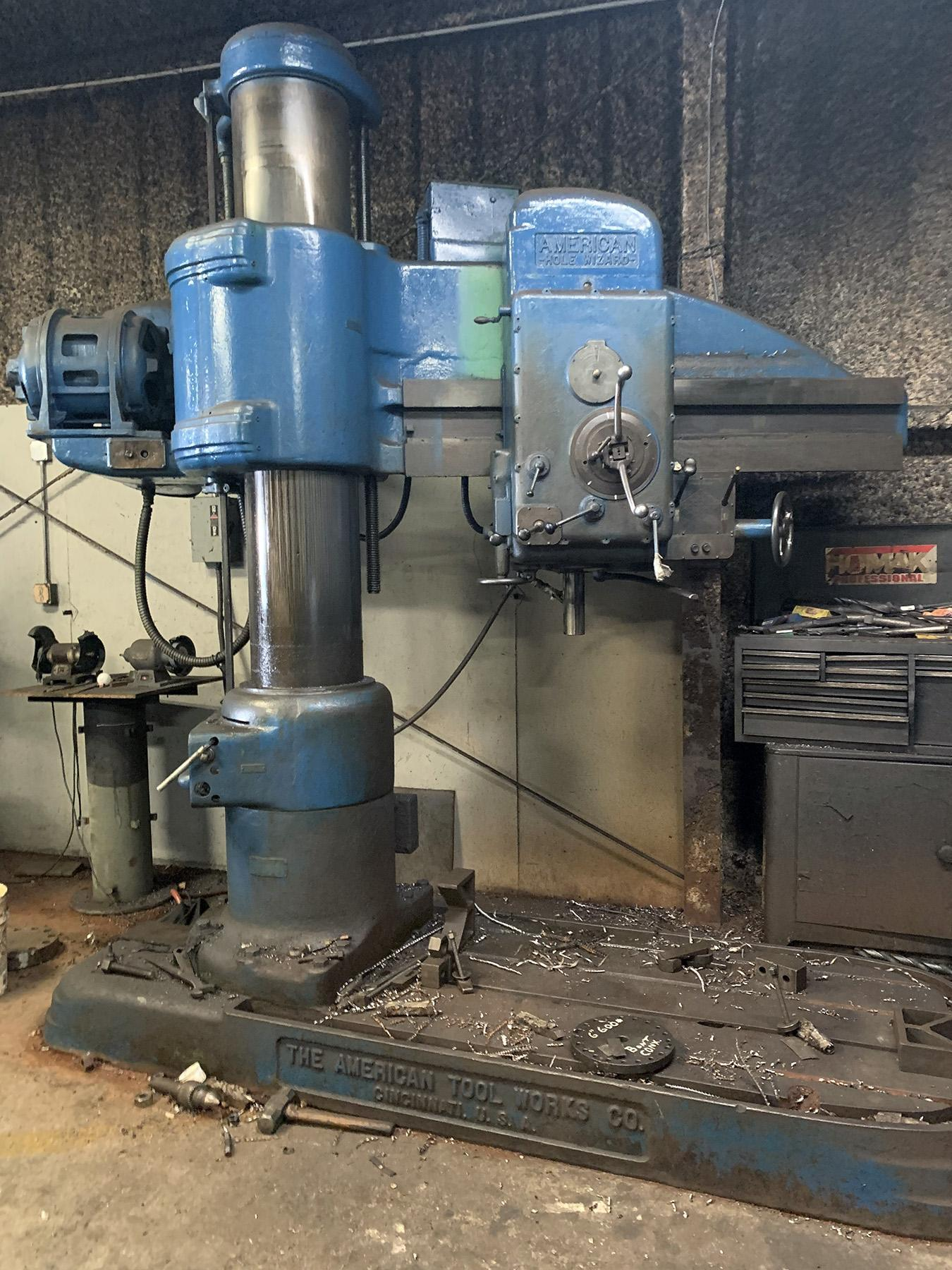 """USED, 4' 11"""" AMERICAN """"HOLE WIZARD"""" RADIAL DRILL"""