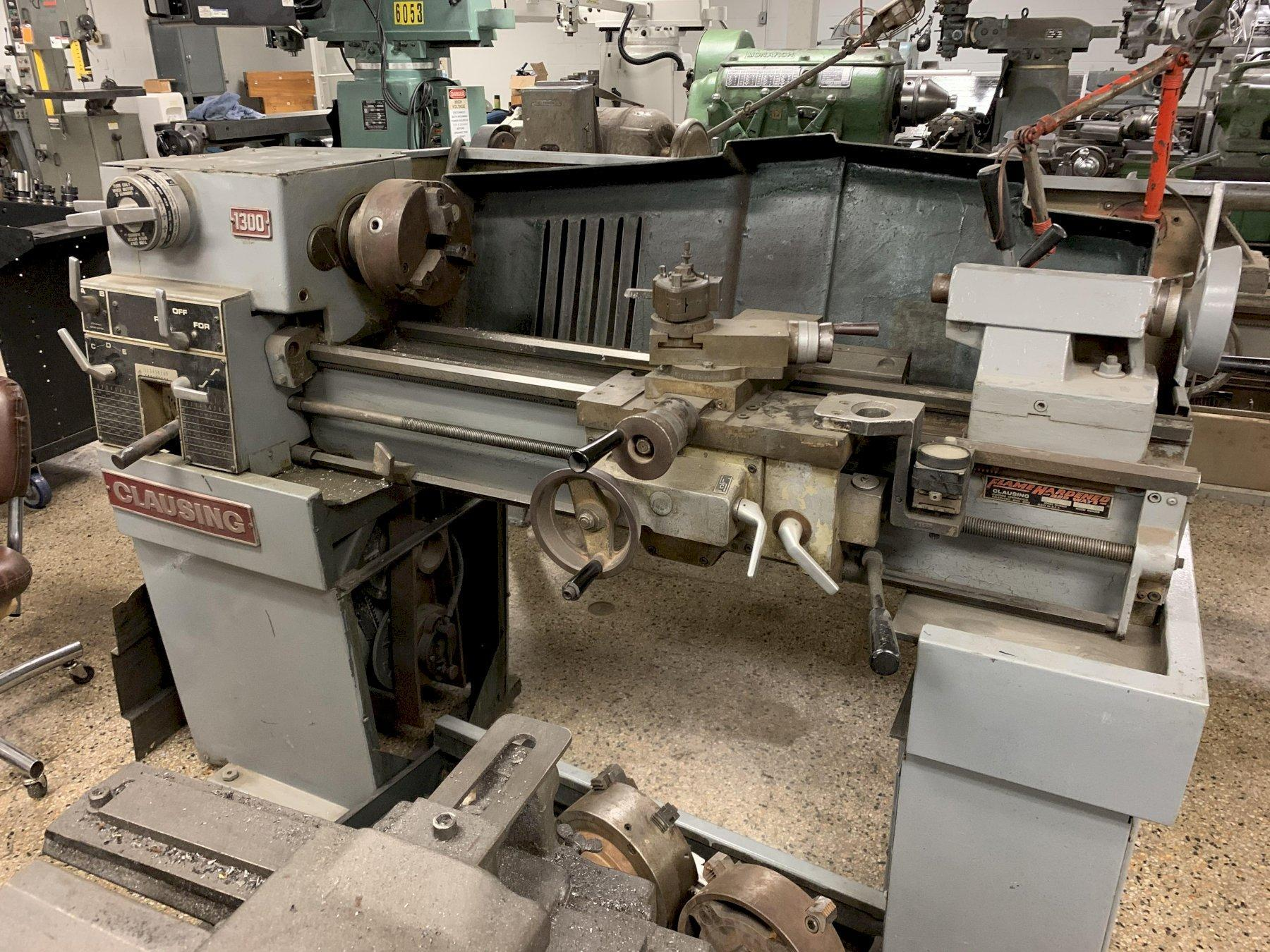 "Clausing 13"" x 36"" Model 130 Variable Speed Engine Lathe, S/N 130871."
