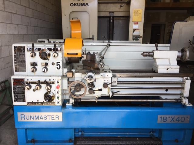 """18"""" x 40"""" Runmaster Model 6246/1000 Engine Lathe"""