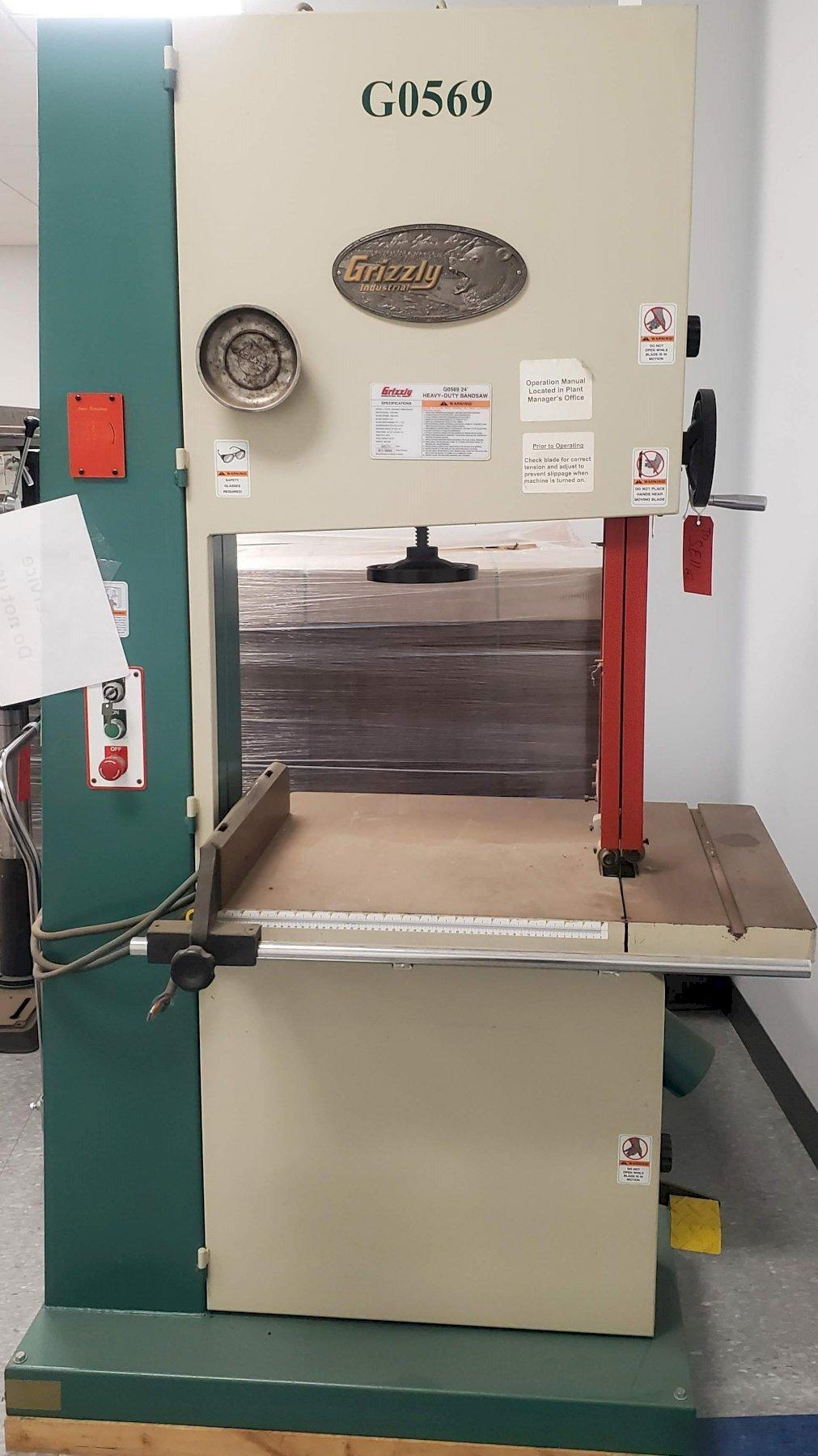 GRIZZLY INDUSTRIAL BAND SAW STOCK # 2784