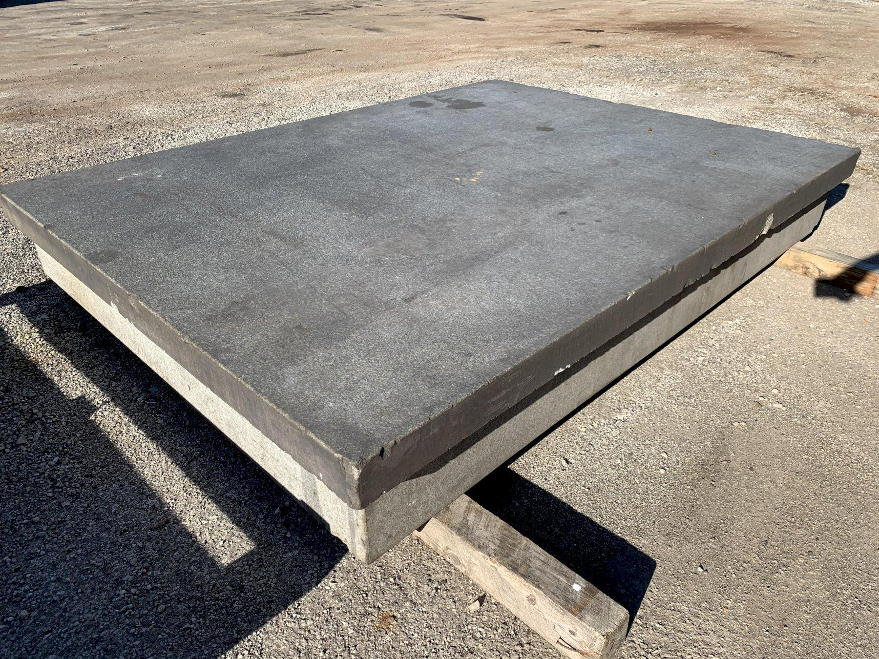 """96"""" X 72"""" PRECISION GRADE A GRANITE LAYOUT SURFACE PLATE WITH STAND: STOCK 12570"""