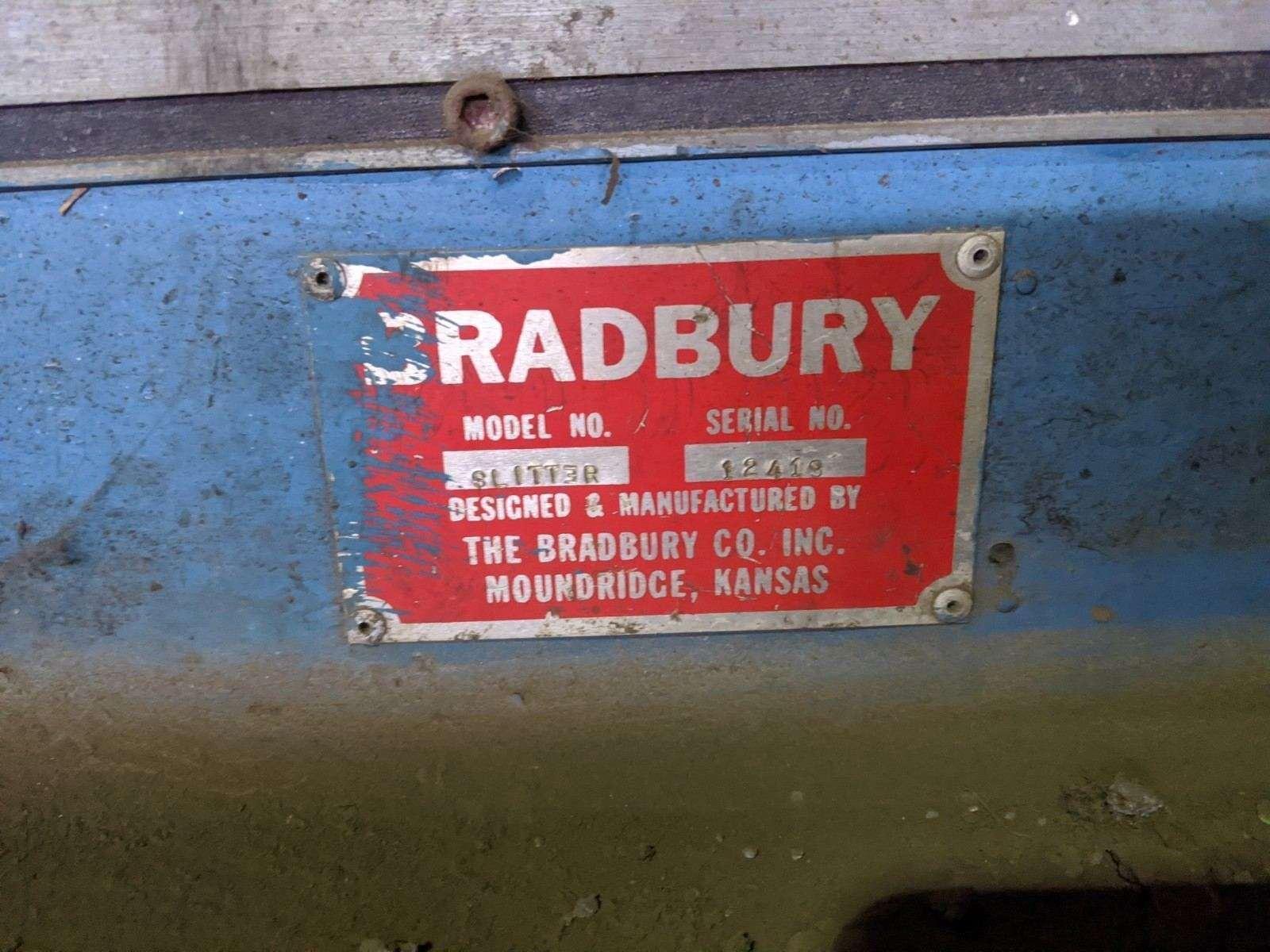 "96"" BRADBURY SLITTER AND SKEW TABLE"