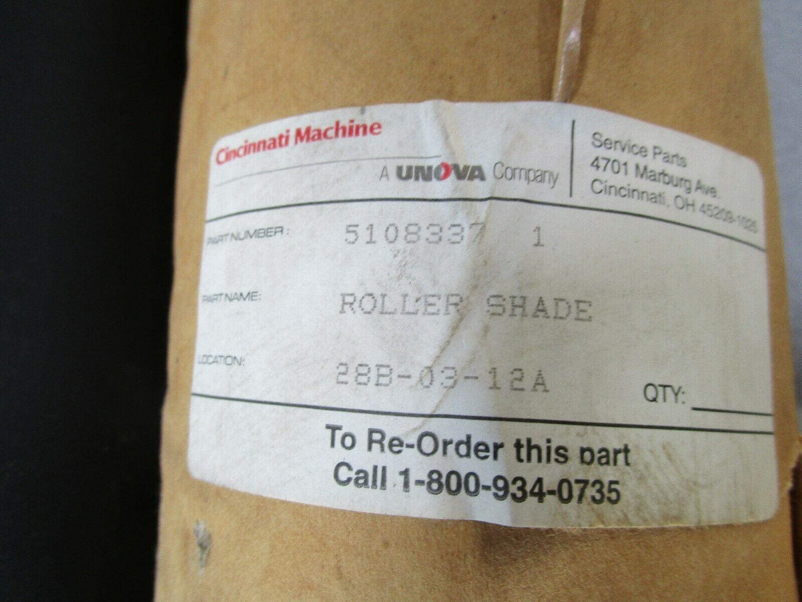 Cincinnati Milacron Machine Roller Shade Way Guard 51083371 Set of 2 (L & R)