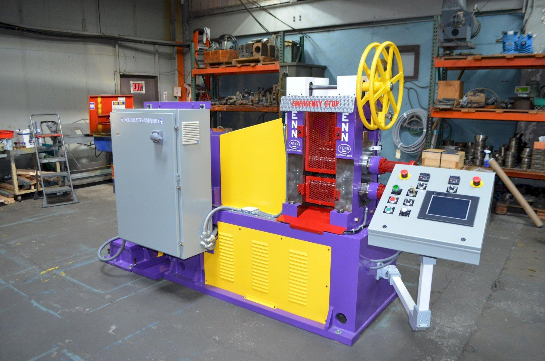 """FENN MODEL 051 5"""" X 8"""" 2HI/4HI HOT LAB ROLLING MILL - INCLUDES PRE-HEATED ROLLS, LOAD CELLS, AND DATA ACQUISITION SYSTEM"""