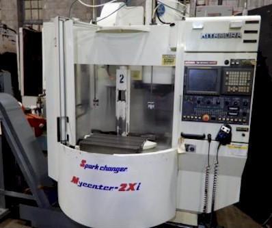 "KITAMURA MYCENTER 2 VERTICAL MACHINING CENTER, Model 2Xi, Fanuc OM CNC Control, (2) 24""x16"" Pallets, x=22"", y=16"", z=18"", 10,000 RPM, 12 ATC, New 2000."