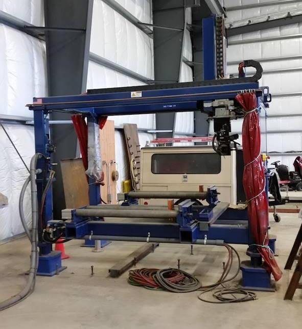 USED OCEAN (PEDDINGHAUS) LIBERATOR 5-AXIS CNC OXY-FUEL BEAM COPING MACHINE, Year 2009, Stk# 10593