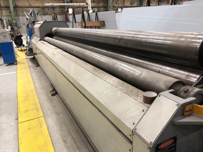 "2003 Akyapak AHS-5100 1/8"" X 16' CNC 4-Roll Plate Roll"