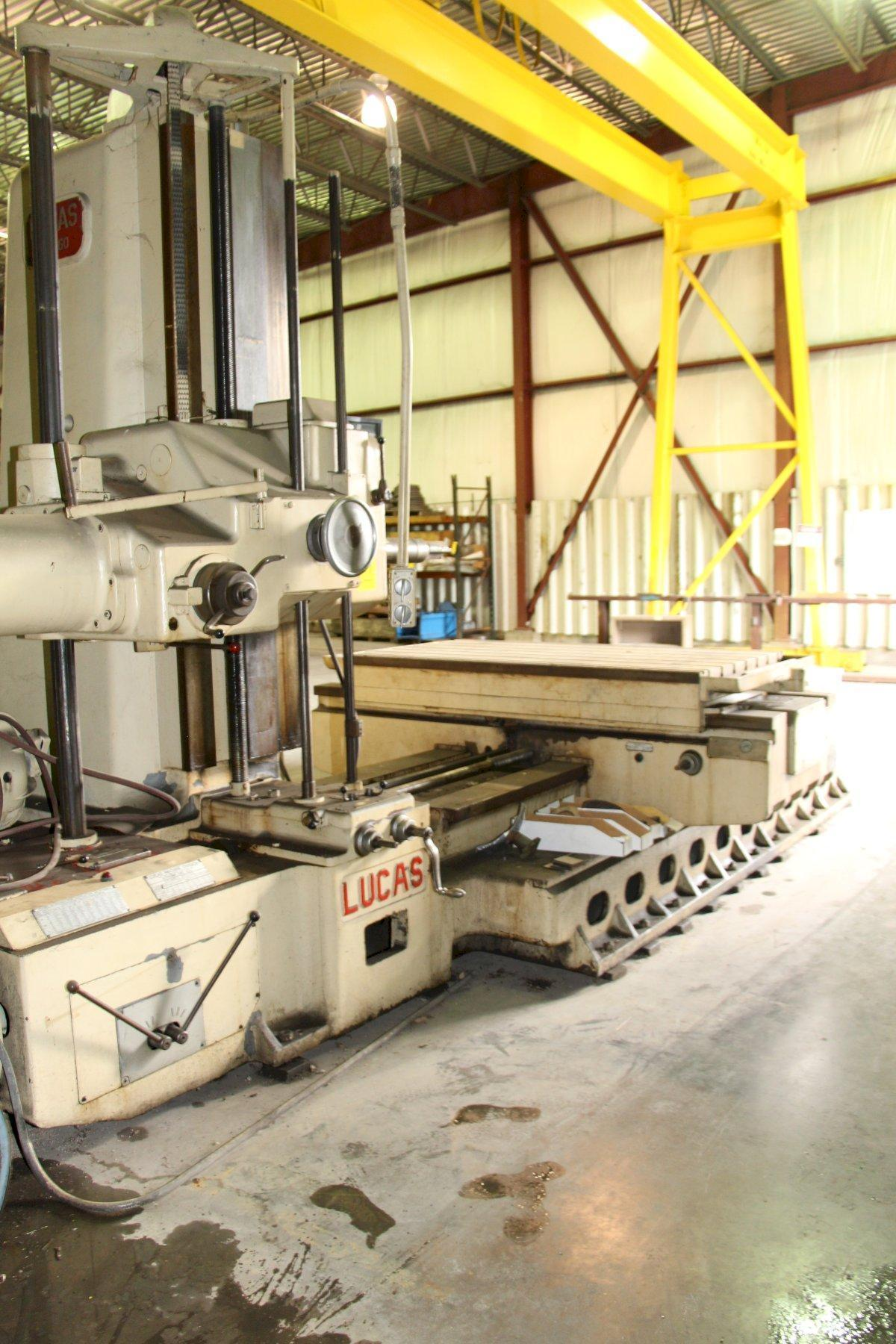 "4"" Lucas Model 42B-60 Horizontal Table Type Boring Mill"
