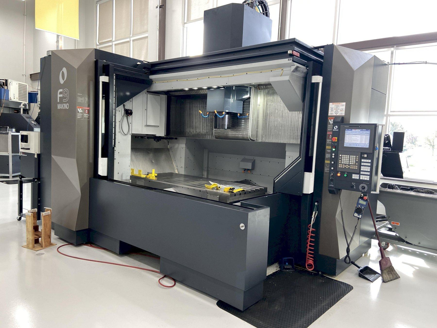 Makino F9 CNC Vertical Machining Center With 10k RPM CTS, Probing, Demo  Machine
