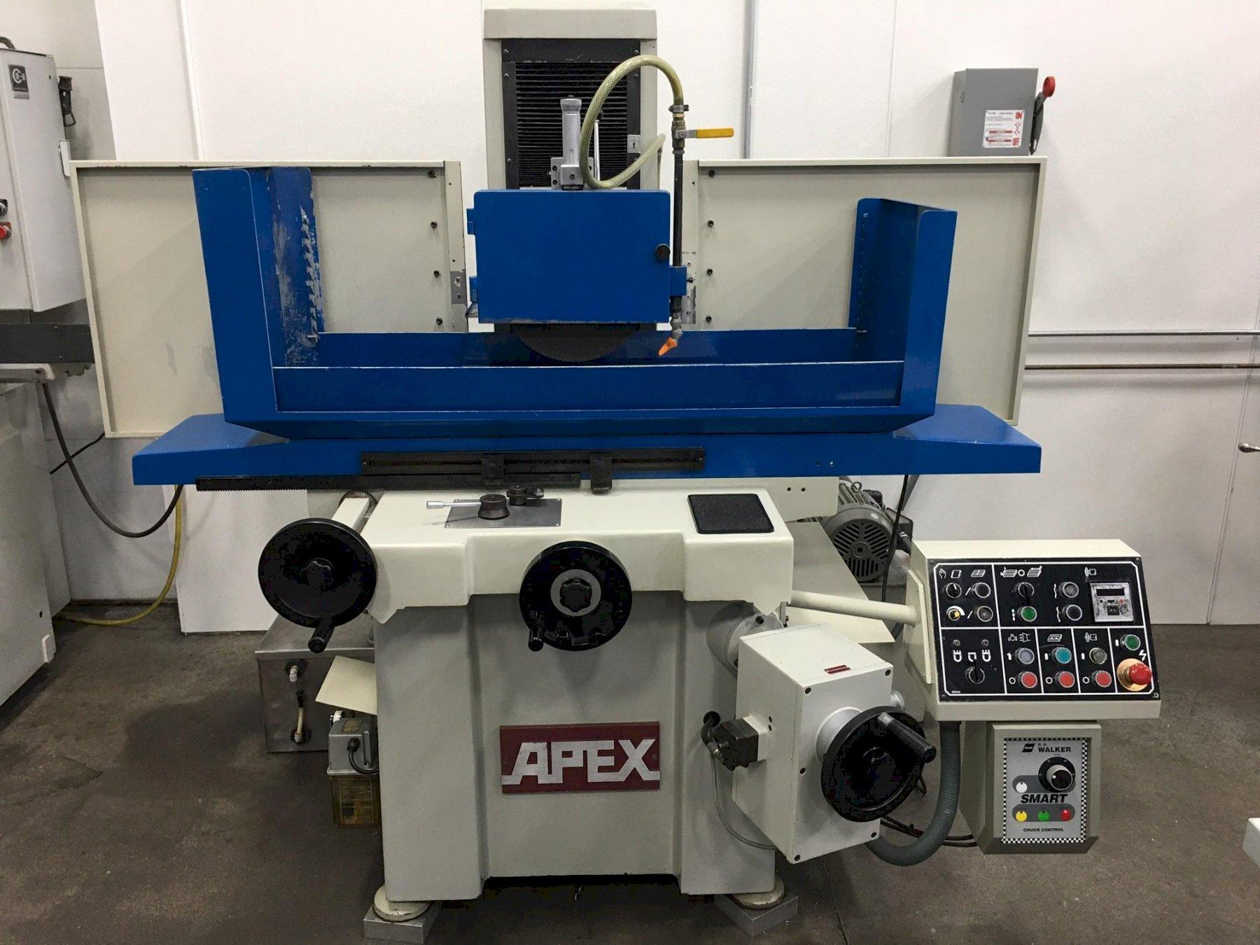 """12 x 24 - KENT (APEX) KGS-63AHD 3-Axis Automatic Hydraulic Surface Grinder, 12"""" x 24"""" Capacity, Over Wheel Dresser, 5HP, New 1994"""