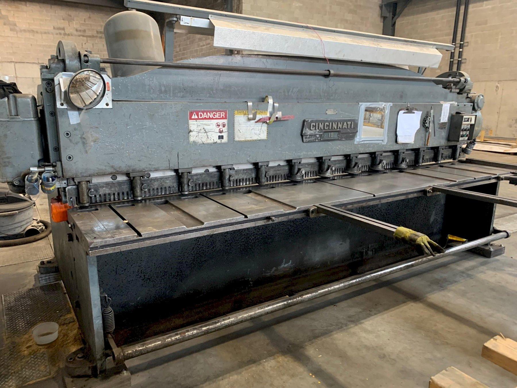 "1/4"" x 12 ft. Cincinnati Mechanical Power Shear Model 1812"