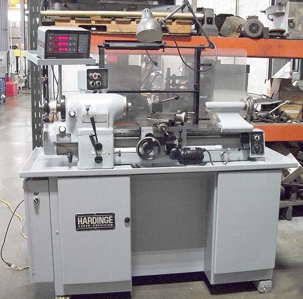 """HARDINGE HLV-H TOOLROOM, Acurite Digital Readouts, 11' Swing over Bed, 9"""" Over Cross Slide, 18"""" Centers , 5C Collet Nose, 125-3000 RPM Variable Speed Spindle, Independent Variable Feeds, Inch Threading, New 1981."""