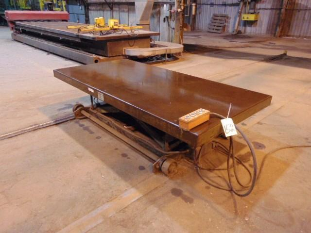 4500 LBS X 8'X 4' AMERICAN TRAVERSING HYDRAULIC SCISSOR LIFT TABLE: STOCK #12128