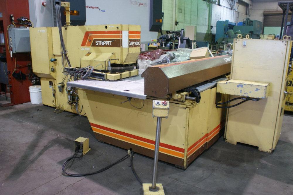 USED STRIPPIT CNC TURRET PUNCH PRESS (W1426), Model CAP 1000, 22 tons, Stock No. 10373