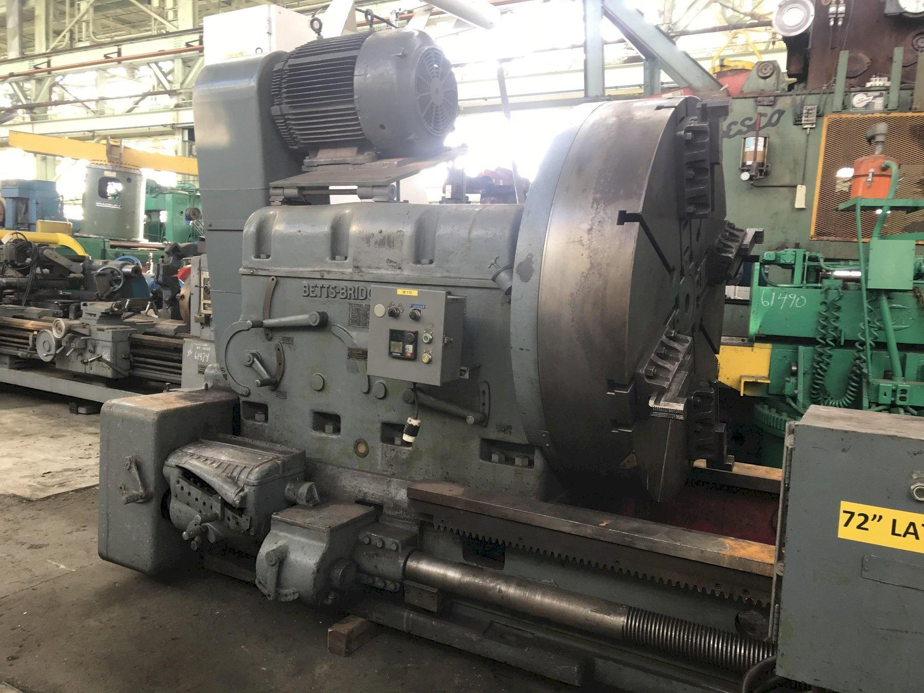 "72"" X 168"" BETTS HEAVY DUTY ENGINE LATHE: STOCK #73826"