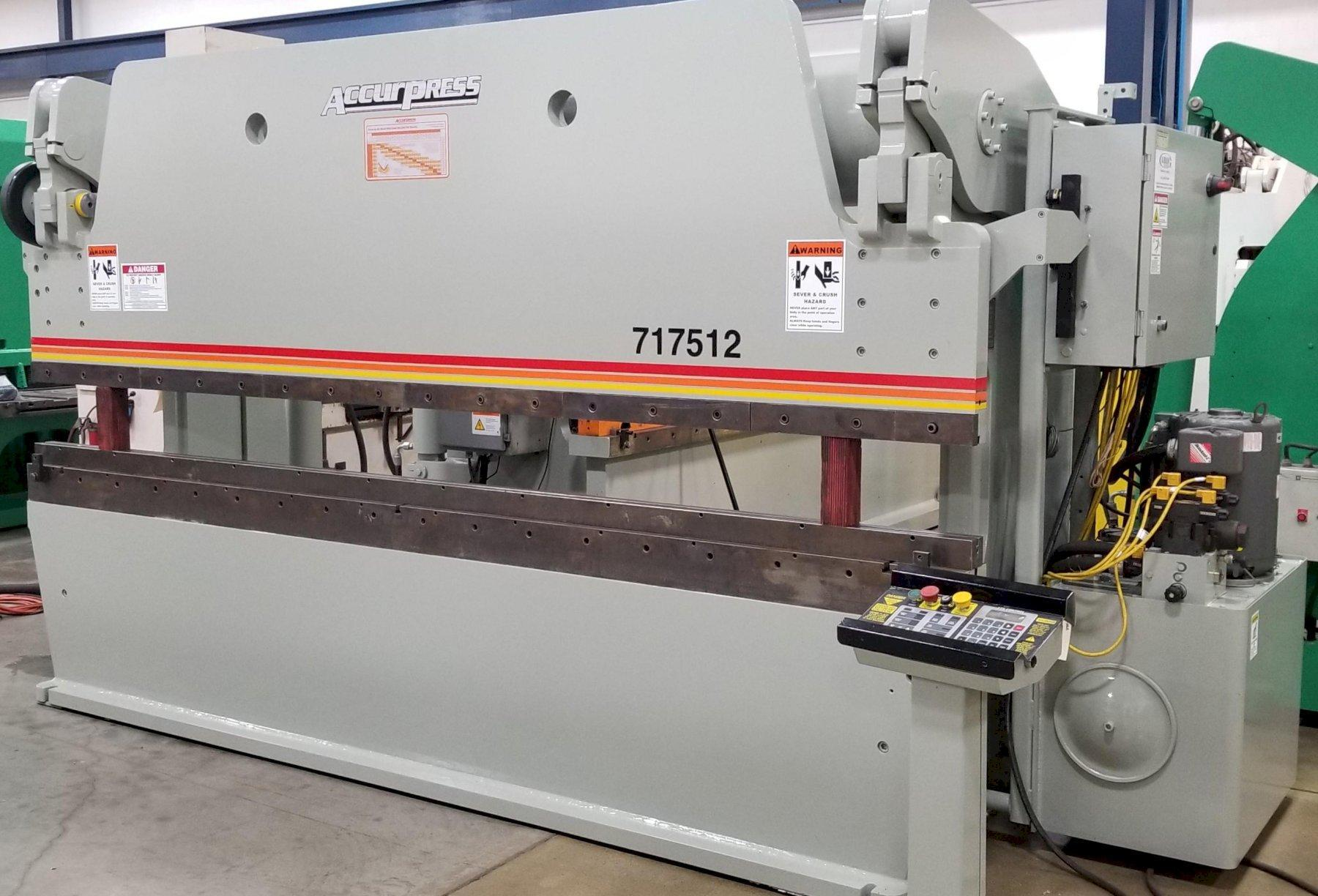 "175 TON ACCURPRESS HYDRAULIC PRESS BRAKE, 12' BED LENGTH, 10' 4"" BTWN, 10"" THROAT, 2000"