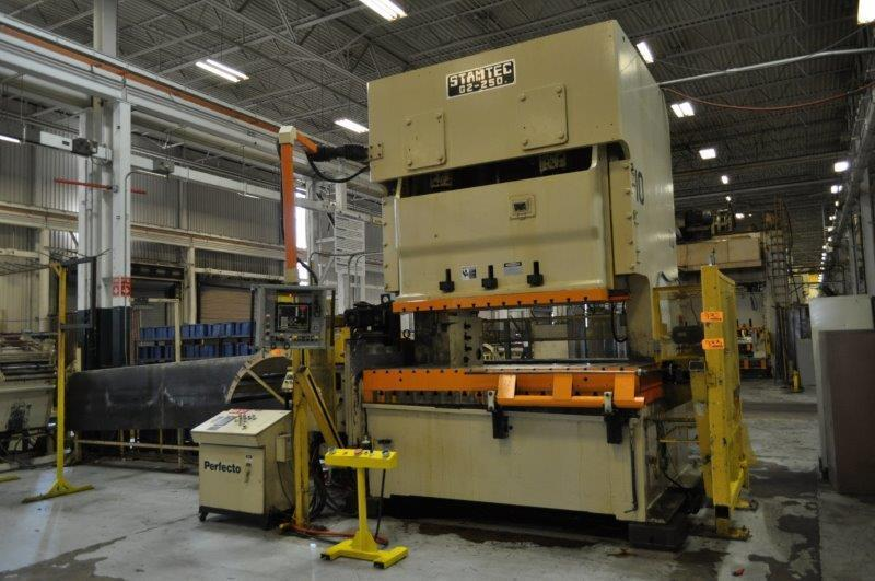 275 Ton Stamtec Double Crank Gap Frame Press