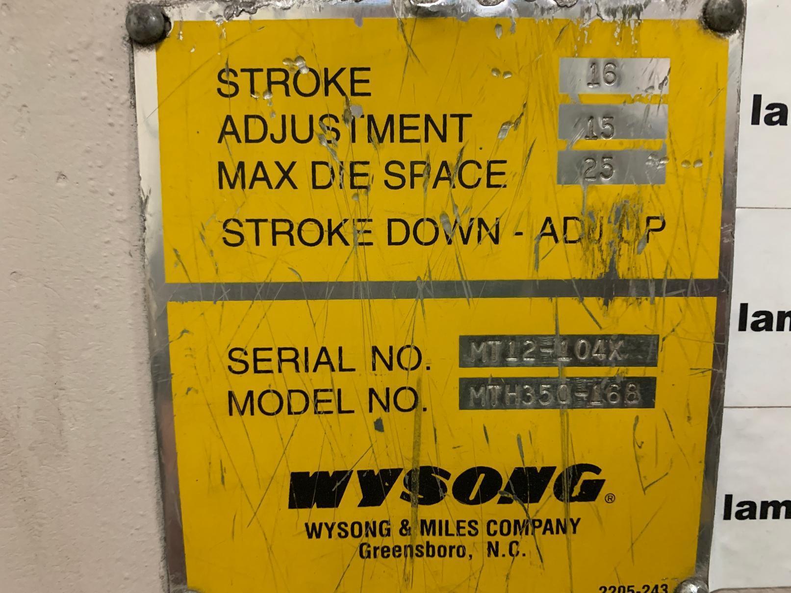350 TON X 14' WYSONG MODEL #MTH350-168 CNC HYDRALIC PRESS BRAKE: STOCK #14664
