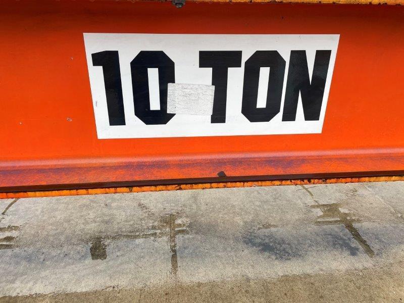 USED, 10 TON KONE CRANES TOP RUNNING OVERHEAD BRIDGE CRANE, 44' SPAN, 30' LIFT, UNDERHUNG HOIST, PENDANT AND RADIO CONTROL, 2012