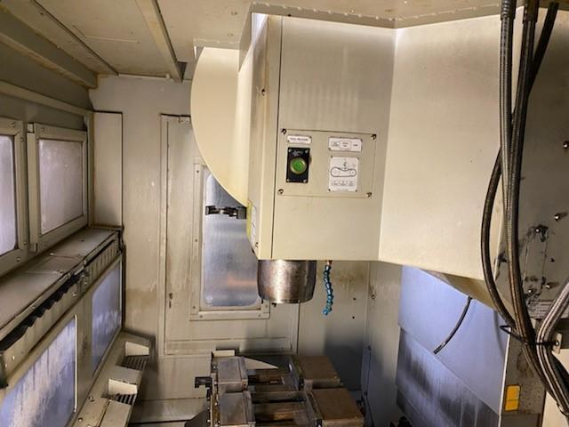 Hardinge GX 480 APC CNC VMC 2012 with: Pallet Changer, Fanuc Oi-MD Control, 10k RPM Spindle, RJH, Rigid Tap, 16-ATC, and Coolant Tank.