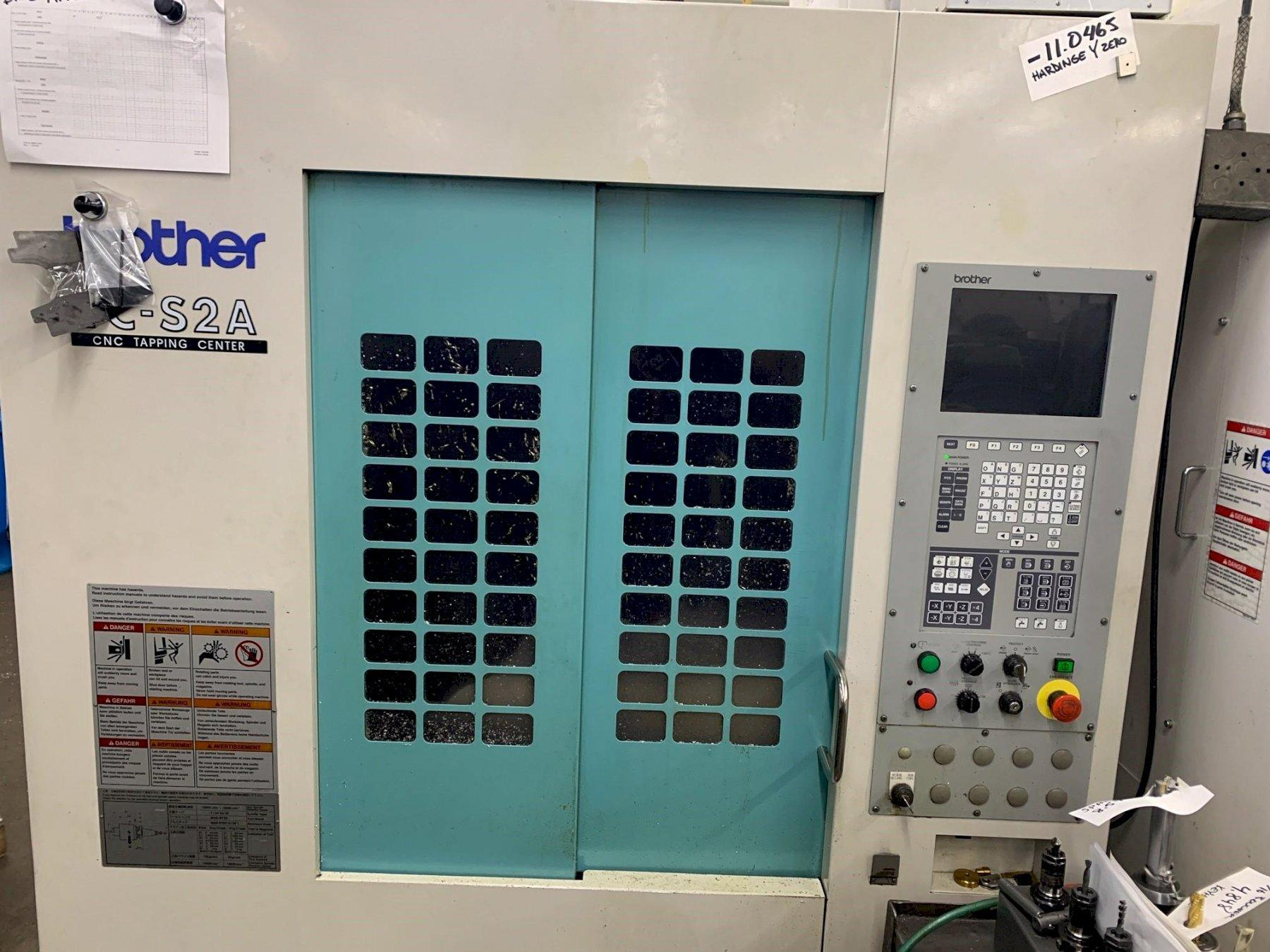 Brother TCS-2A CNC Drill & Tap Center, A-00 Control, 10K Spindle, 18.8