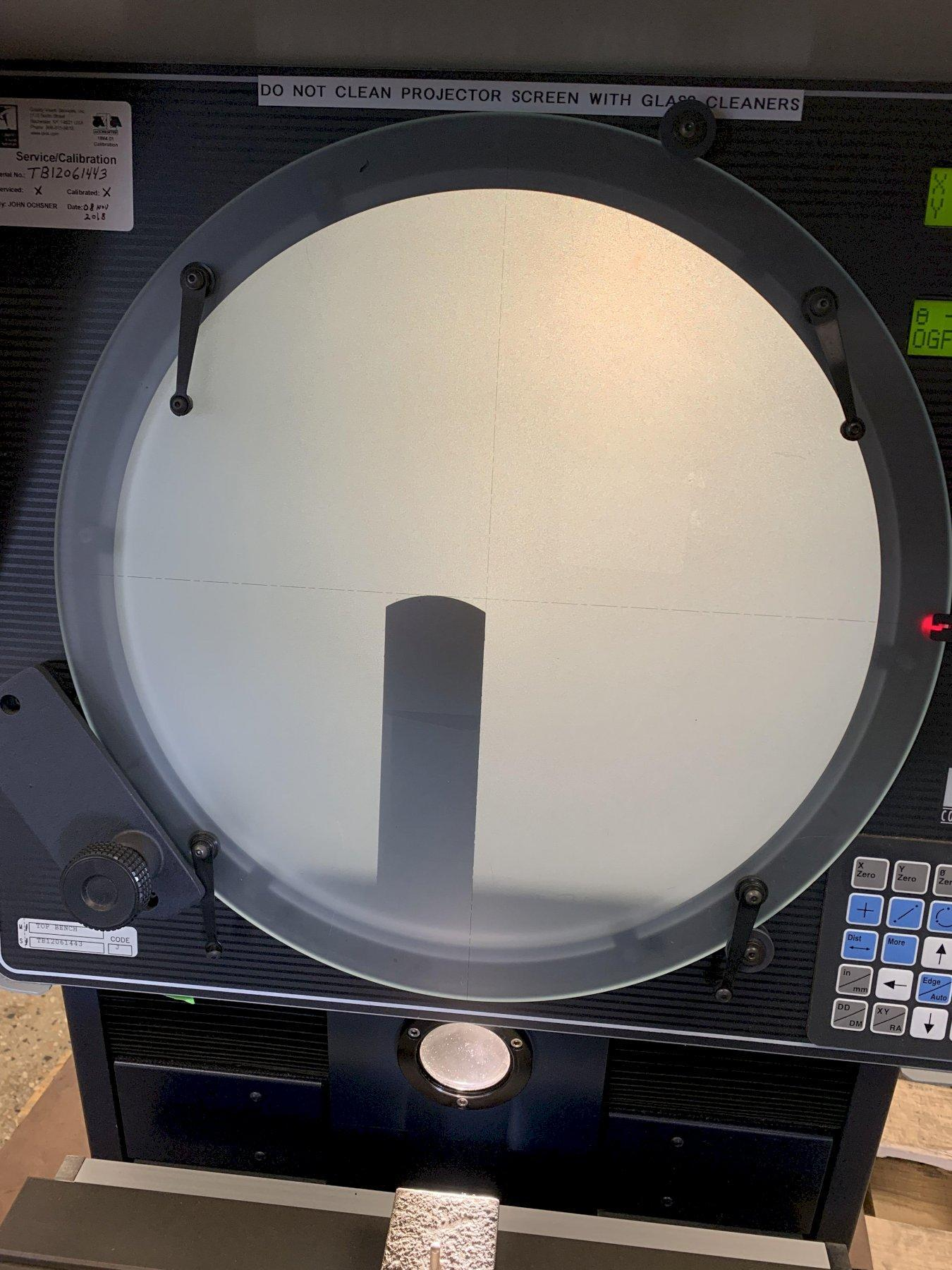"""14"""" OGP """"Top Bench"""" Optical Comparator & Measuring Machine, S/N TB12061443, New 1997."""