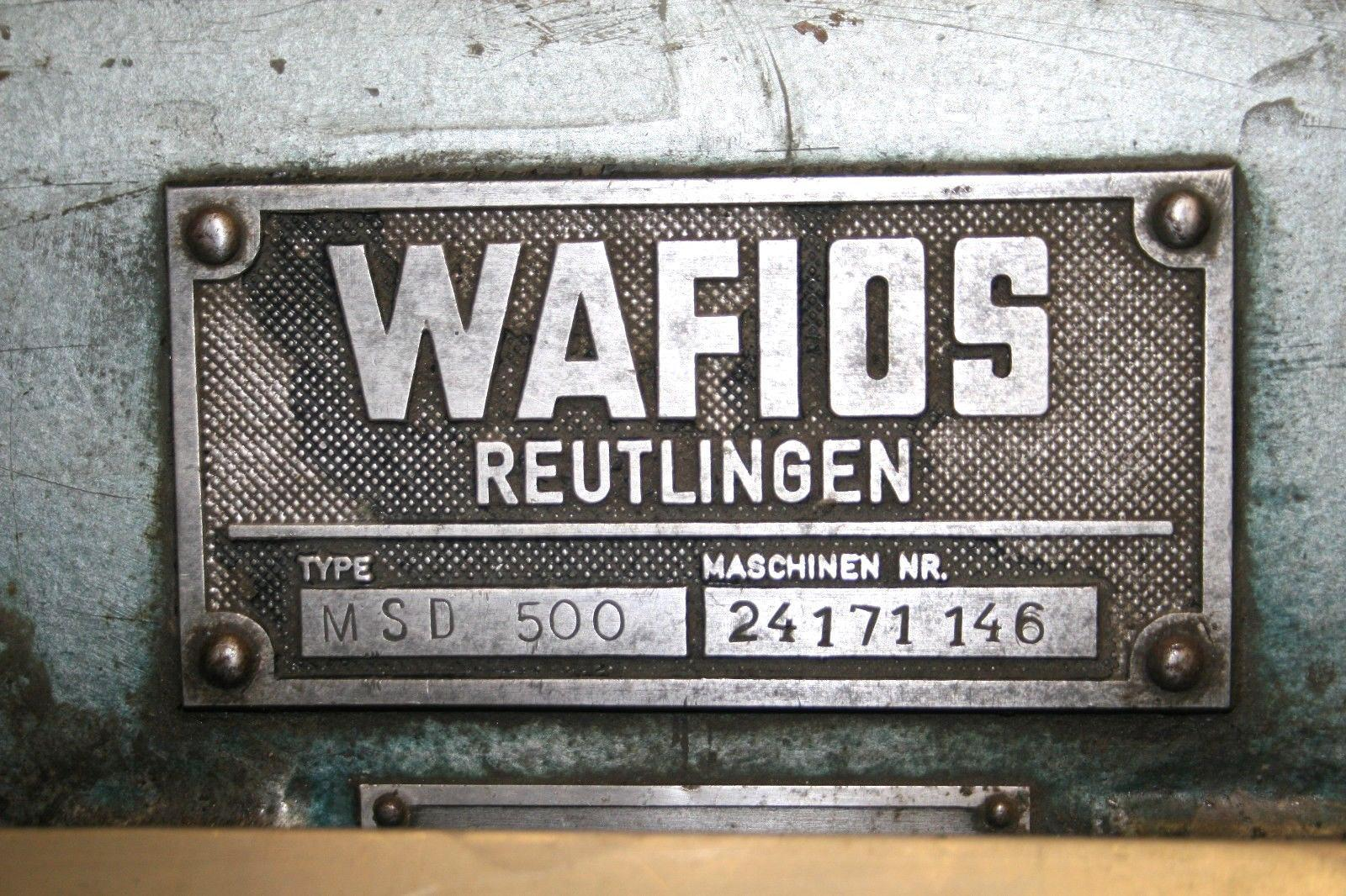 Wafios Model MSD-500 Nail Cutter Grinding Machine