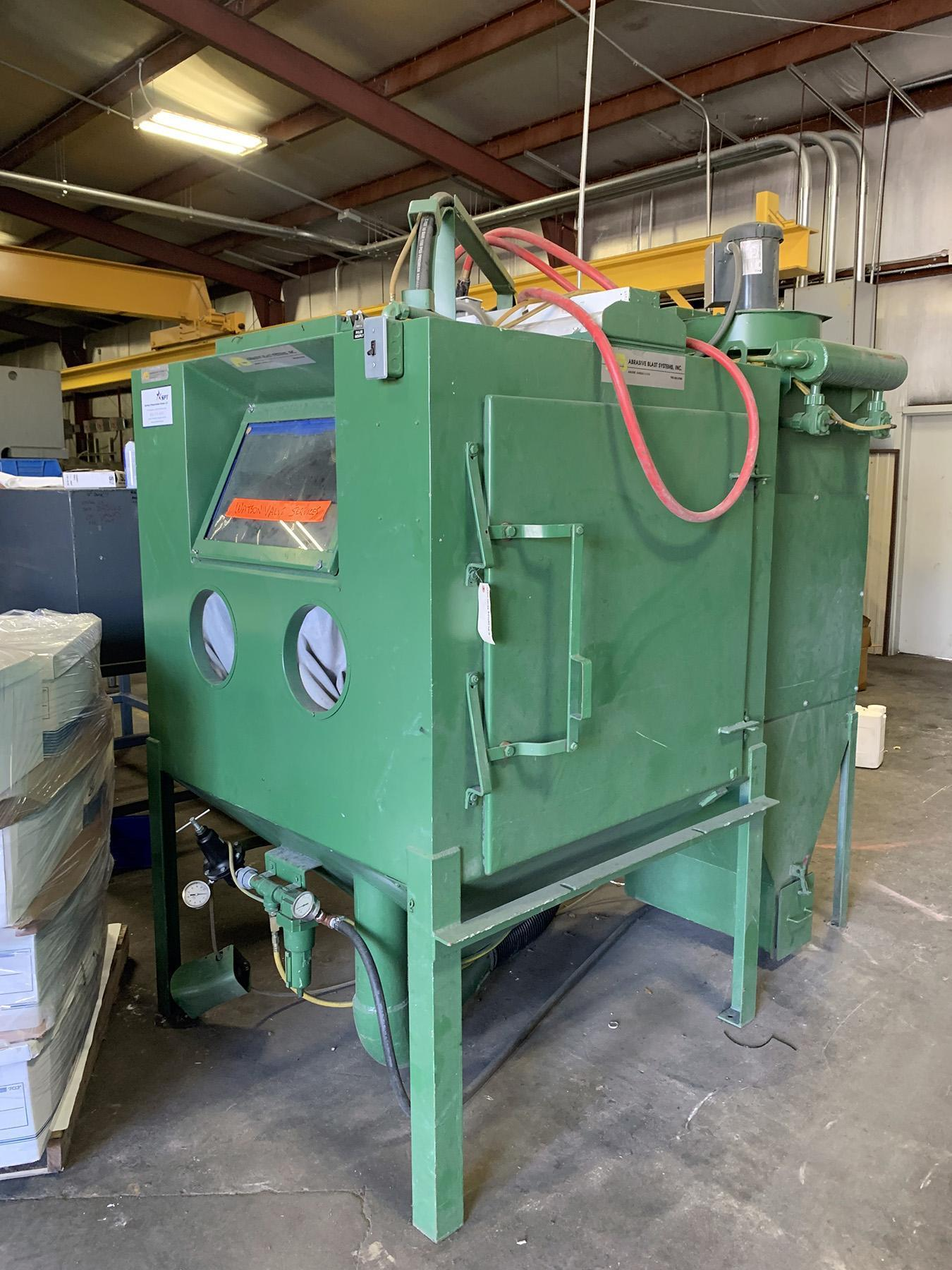USED, ABRASIVE BLAST SYSTEMS INC. MODEL 4848PRC BLAST CABINET