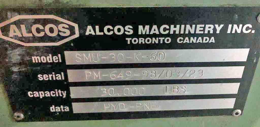 "30,000# X 60"" ALCOS UNCOILER STOCK #2808"