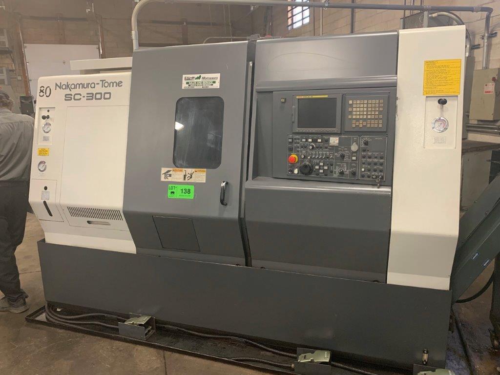 Nakamura-Tome SC300 CNC Lathe, Fanuc 21iT Control, 12