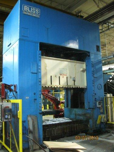 600 Ton Bliss SE4-600-108-72 Straight Side Press